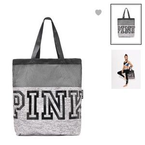 NEW VS PINK MESH TOTE